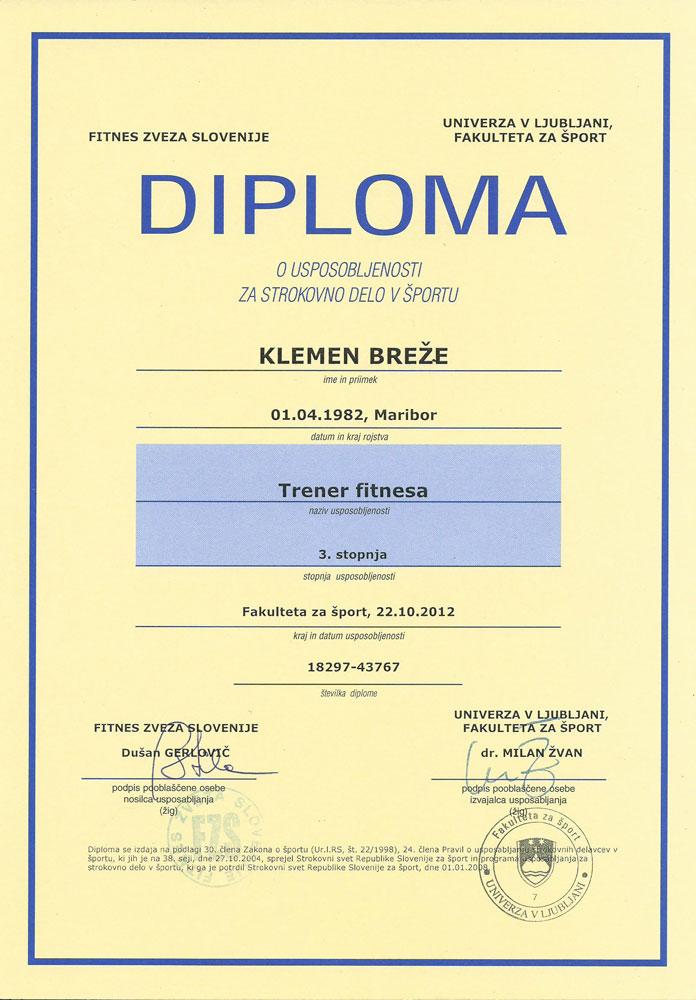Diploma Fitnes